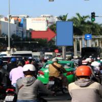 Billboard quảng cáo tại dải phân cách Điện Biên Phủ, Đà Nẵng