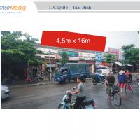 Biển quảng cáo tại Chợ Bo, Thái Bình