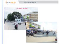 Biển quảng cáo tại Chợ Cái Bè, Tiền Giang