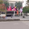 Biển quảng cáo tại chợ Nghệ, Sơn Tây, Hà Nội