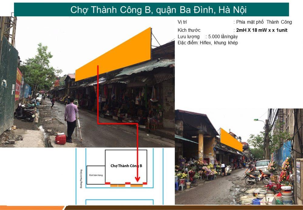 Biển chợ Thành Công, quận Đống Đa, Hà Nội