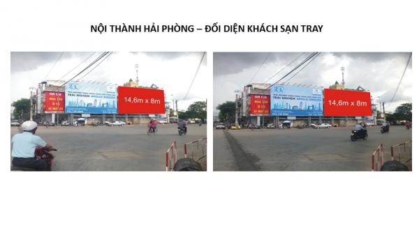 Pano quảng cáo gần Cung Văn hóa Thể thao Thanh niên, Hải Phòng
