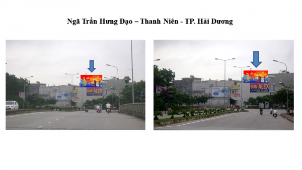Pano tại Ngã giao Trần Hưng Đạo - Thanh Niên, TP.Hải Dương