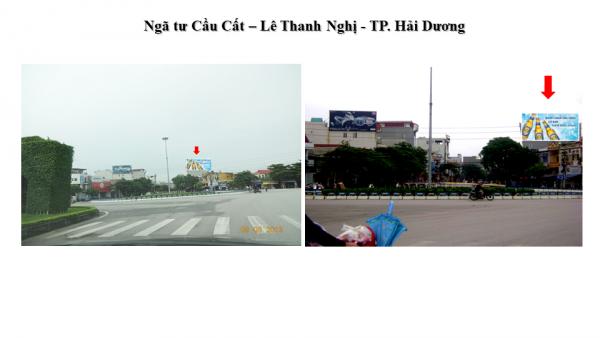 Pano quảng cáo tại Ngã tư Cầu Đất - Lê Thanh Nghị, Hải Dương