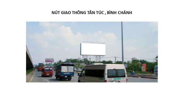 Billboard tại Nút giao thông Tân Túc, Quận Bình Chánh, TPHCM