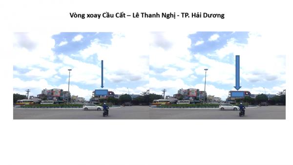 Pano quảng cáo tại Vòng xoay Cầu Cất - Lê Thanh Nghị, Hải Dương