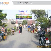 Biển quảng cáo tại Chợ Ba Kè, Vĩnh Long