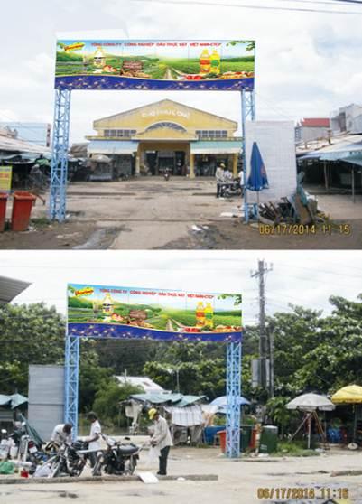 Biển quảng cáo chợ Cổng Phú Long - Châu Thành