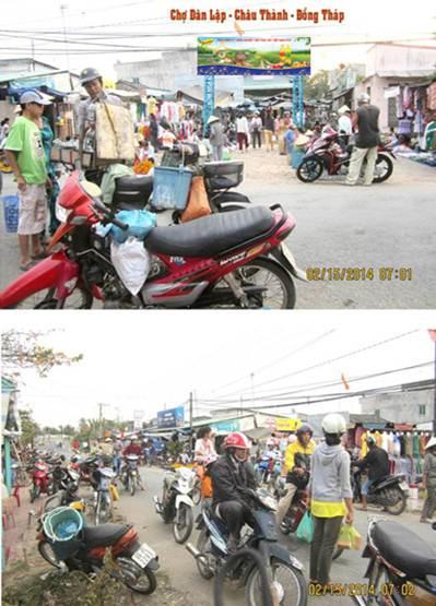 biển Pano tại Cổng chợ Dân Lập – Đồng Tháp