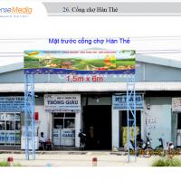 Biển quảng cáo tại Chợ Hàn Thẻ, Vĩnh Long