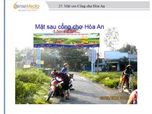 Biển quảng cáo tại Chợ Hòa An, Tam Bình, Vĩnh Long