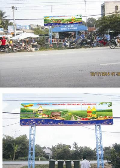Biển quảng cáo Cổng Chợ Hòa Thành – Lai Vung, Đồng Tháp