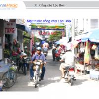 Biển quảng cáo tại Chợ Lộc Hòa, Vĩnh Long