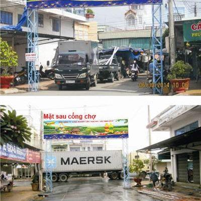Biển quảng cáo Cổng chợ Nàng Hai, Đồng Tháp