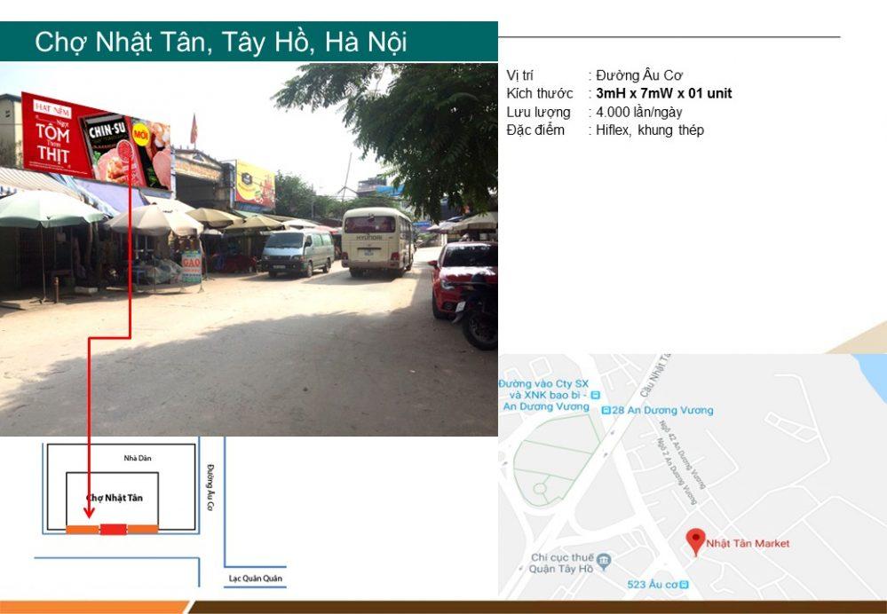 Biển quảng cáo chợ Nhật Tân, Tây Hồ, Hà Nội
