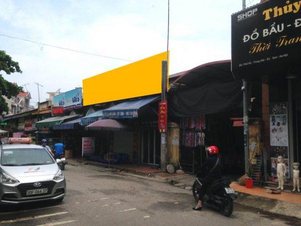Biển quảng cáo chợ Nỷ, Sóc Sơn, Hà Nội