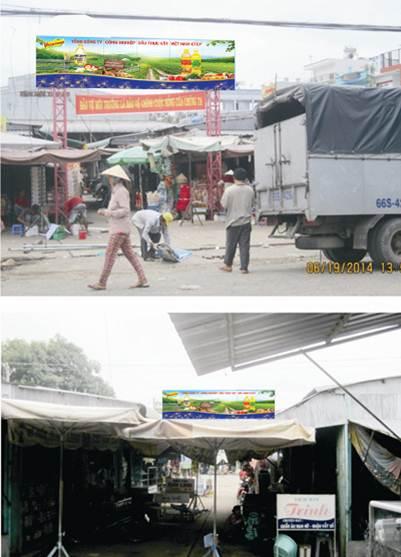 Biển chợ Cổng chợ Tân Hội Trung – Cao Lãnh, Đồng Tháp