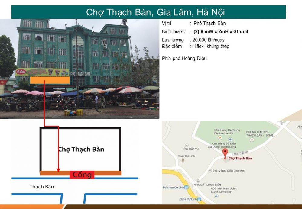 Biển chợ Thạch Bàn, Gia Lâm, Hà Nội