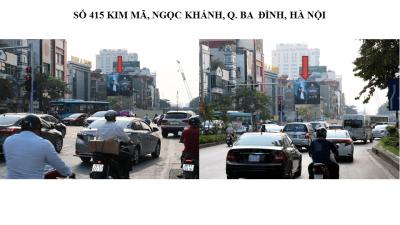 Pano quảng cáo 415 Kim Mã, Hà Nội