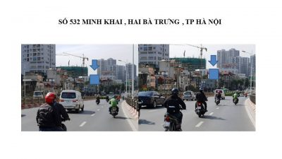 Pano quảng cáo tại 532 Minh Khai, Hà Nội