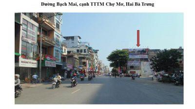 Pano quảng cáo ở Bạch Mai, cạnh TTTM Chợ Mơ, Hai Bà Trưng