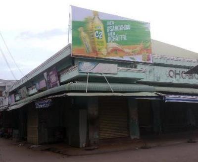 Biển quảng cáo tại Chợ Bông Sen, Sóc Trăng