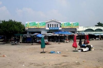 Biển quảng cáo tại Chợ Cái Nhum, Vĩnh Long