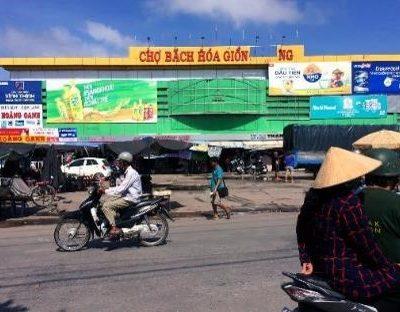 Biển quảng cáo tại Chợ Giồng Riềng, Kiên Giang