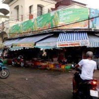 Biển quảng cáo tại Chợ Mỹ Tho, Tiền Giang