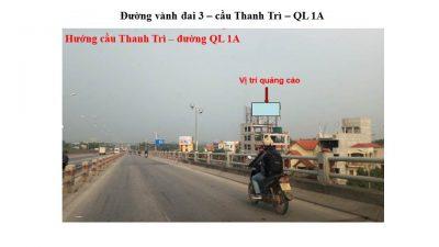 Pano ở đường vành đai 3, cầu Thanh Trì, QL 1A, Hà Nội