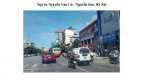 Pano quảng cáo ngã ba Nguyễn Văn Cừ - Nguyễn Sơn, Hà Nội