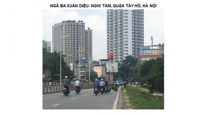 Pano quảng cáo Ngã ba Xuân Diệu, Tây Hồ, Hà Nội