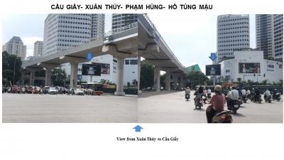 Billboard quảng cáo ở ngã tư Cầu Giấy – Xuân Thủy, Hà Nội