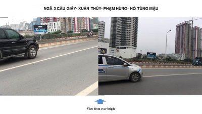 Billboard quảng cáo tại ngã tư Phạm Hùng – Hồ Tùng Mậu, Hà Nội