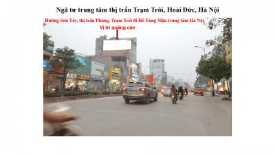 Pano ngã tư trung tâm thị trấn Trạm Trôi, Hoài Đức, Hà Nội