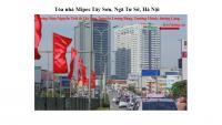 Pano trên tòa nhà Mipec Tây Sơn, Ngã Tư Sở, Hà Nội
