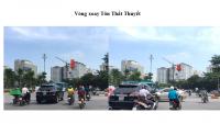 Pano tại vòng xoay Tôn Thất Thuyết - Trần Thái Tông, Hà Nội