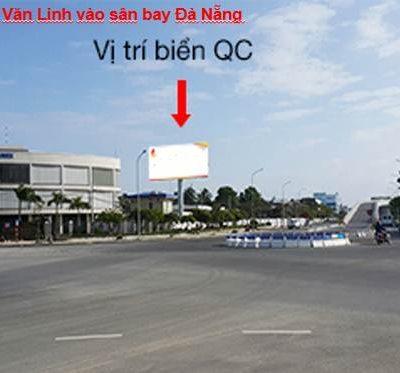 Billboard ở cổng ra sân bay Đà Nẵng (hướng Nguyễn Văn Linh vào)