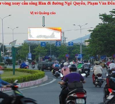 Biển pano quảng cáo ở vòng xoay cầu sông Hàn, Đà Nẵng