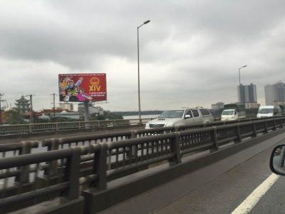 Billboard Đường vành đai 3, bến xe nước ngầm, Linh Đường, Hà Nội