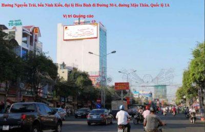 Pano quảng cáo tại ngã ba Đường 30/4 - cầu Quang Trung, Cần Thơ