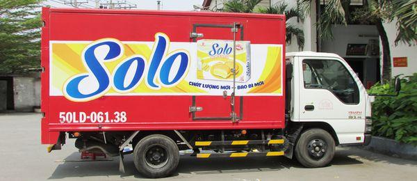 quy định dán quảng cáo trên xe tải