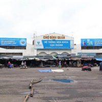 Biển quảng cáochợ Định Quán, Đồng Nai