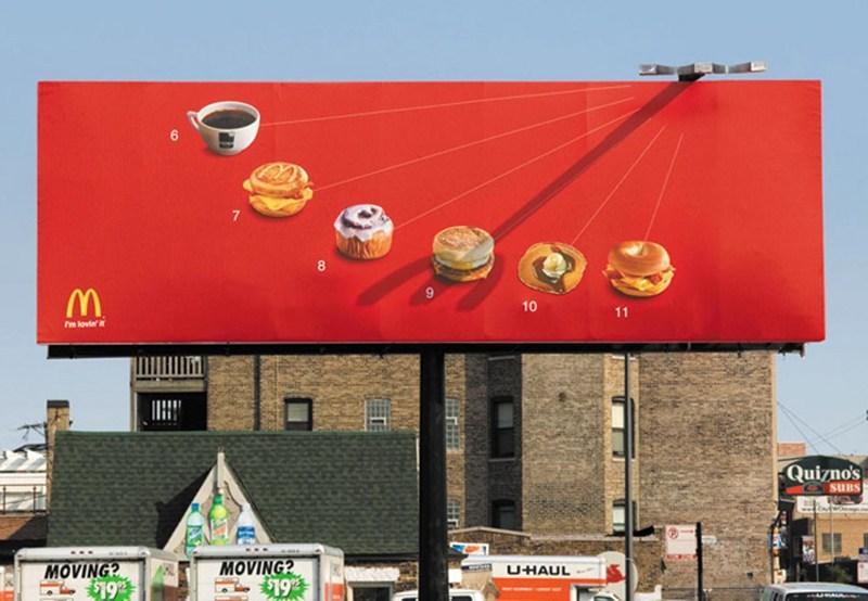 10 biển quảng cáo ngoài trời hài hước và sáng tạo trên thế giới