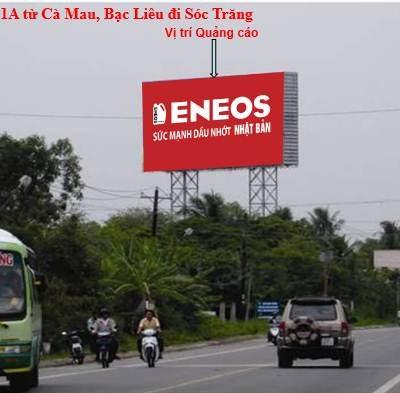 Billboard quảng cáo tại Quốc Lộ 1A Sóc Trăng