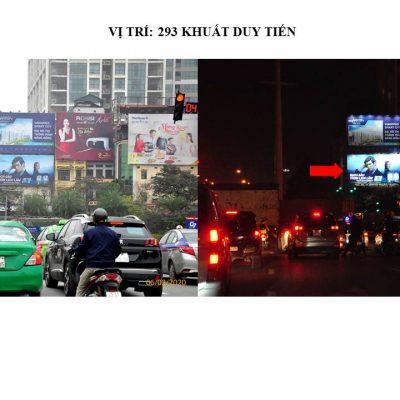 Pano quảng cáo tại 293 Khuất Duy Tiến, Cầu Giấy, Hà Nội