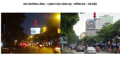 Pano quảng cáo tại 582 Đường Láng, Đống Đa, Hà Nội