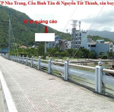 Billboard tại công viên Nam cầu Bình Tân, Nha Trang