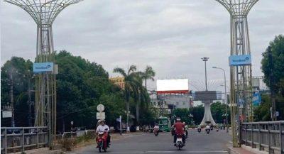 Pano quảng cáo tại công viên Ba Tơ, Quảng Ngãi