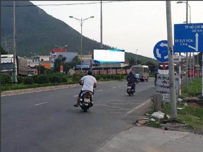 Pano quảng cáo tại vòng xoay ngã ba tuyến tránh QL1A, Phú Yên